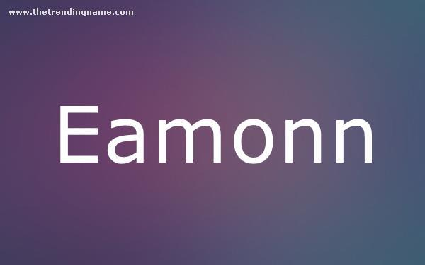Baby Name Poster For Eamonn