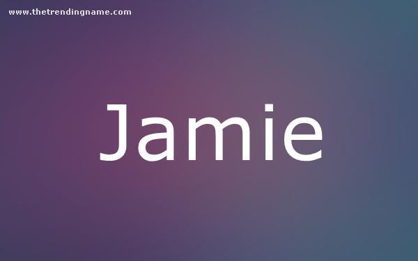 Baby Name Poster For Jamie