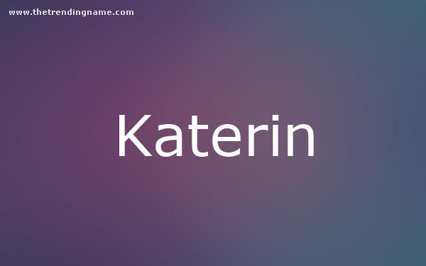 Baby Name Poster For Katerin