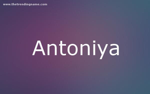 Baby Name Poster For Antoniya