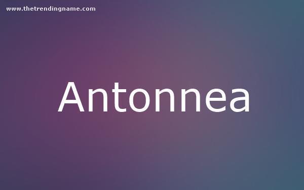 Baby Name Poster For Antonnea
