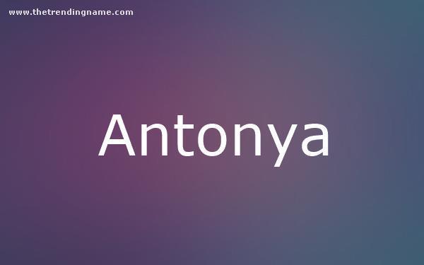 Baby Name Poster For Antonya