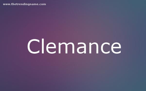 Baby Name Poster For Clemance