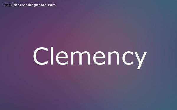 Baby Name Poster For Clemency