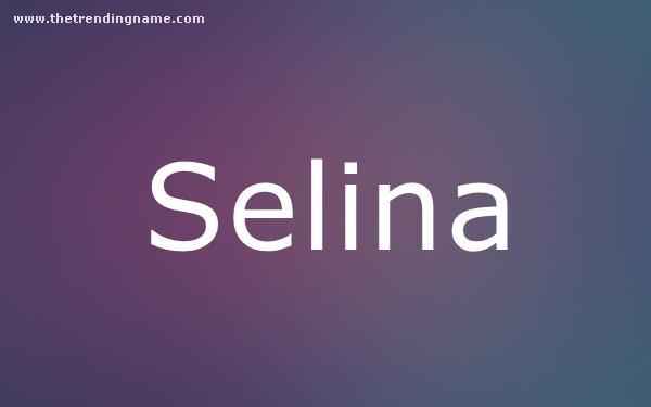 Baby Name Poster For Selina