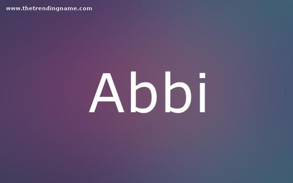 Baby Name Poster For Abbi