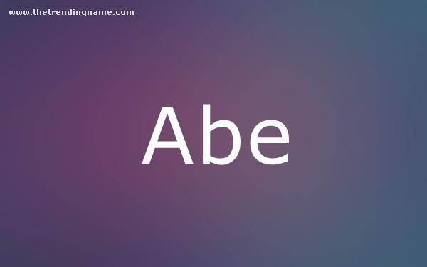 Baby Name Poster For Abe