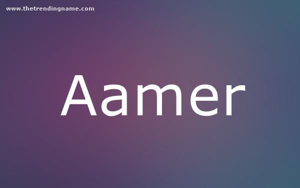 Baby Name Poster For Aamer