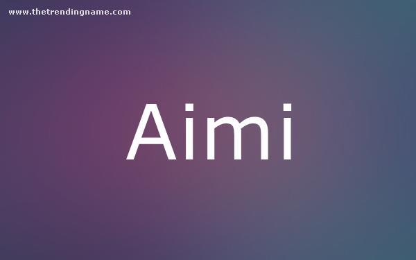 Baby Name Poster For Aimi