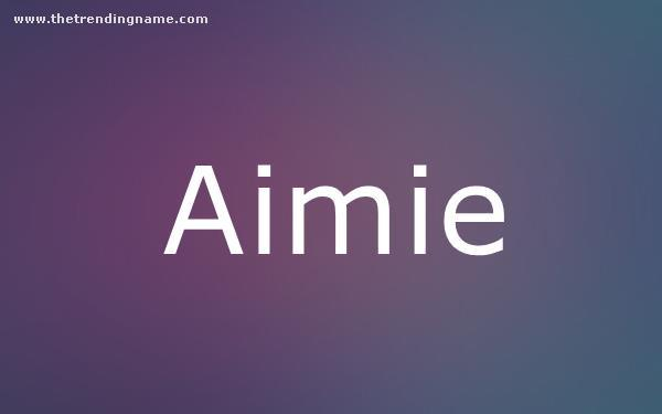 Baby Name Poster For Aimie