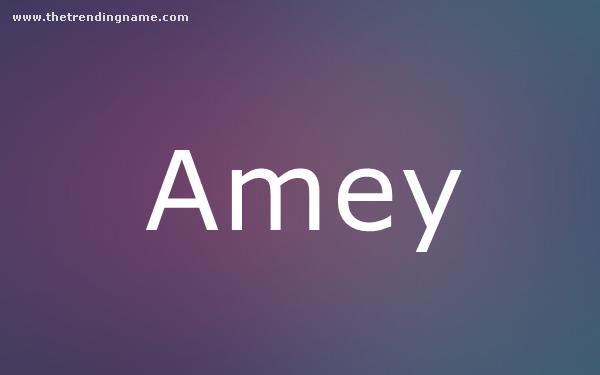 Baby Name Poster For Amey