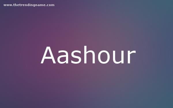 Baby Name Poster For Aashour