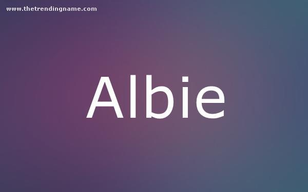 Baby Name Poster For Albie
