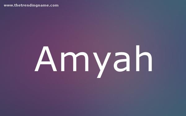 Baby Name Poster For Amyah