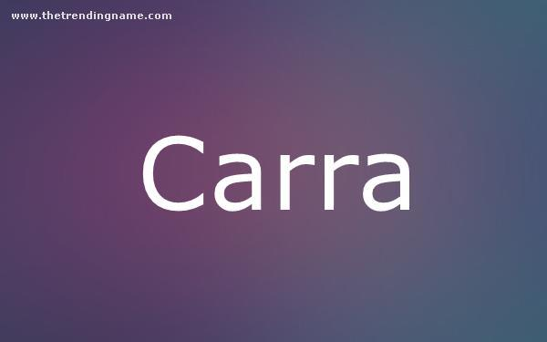 Baby Name Poster For Carra